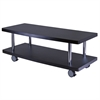 Winsome Wood Evans Tv Stand Curved Shelf, 47.24 x 19.69 x 17.4, Dark Espresso / Metal