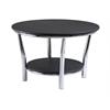 Winsome Wood Maya Round Coffee Table, Black Top, Metal Legs, 29.33 x 29.33 x 18.7, Black / Metal