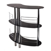 Winsome Wood Martini Entertainment Bar, 47.05 x 22.64 x 41.81, Black / Metal