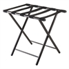 Winsome Wood Tavin Luggage Rack, Folding Straight Leg, 22.68 x 16.18 x 21.12, Black