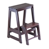 Winsome Wood Step Stool, Double, 15 x 18.5 x 21.5, Antique Walnut