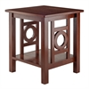 Winsome Wood Ollie End Table Walnut, 20 x 19.06 x 22.05, Walnut