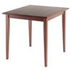 Winsome Wood Groveland Square Dining Table, Shaker Leg, Antique Walnut Finish, 29.53 x 29.53 x 29.13, Antique Walnut