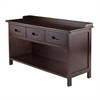 Winsome Wood Adriana 3-Drawer Bench With Storage, 38.27 x 14.17 x 21.85, Antique Walnut