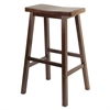 "Winsome Wood Satori 29"" Saddle Seat Bar Stool Antique Walnut, 17.91 x 15.79 x 28.86, Antique Walnut"