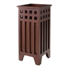 Winsome Wood Aria Umbrella Stand Mission, 9.84 x 9.84 x 21.65, Walnut