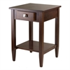 Winsome Wood Richmond End Table Tapered Leg, 17.95 x 18.68 x 25.98, Antique Walnut