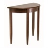 Winsome Wood Concord Half Moon Accent Table, 31.97 x 15.9 x 30, Antique Walnut