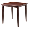 Winsome Wood Kingsgate Dining Table Routed With Tapered Leg, 29.53 x 29.53 x 29.13, Walnut