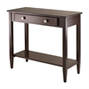 Winsome Wood Richmond Console Hall Table Tapered Leg, 33.98 x 15.69 x 29.92, Antique Walnut