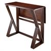 Winsome Wood Harrington Drop Leaf High Table, 39.37 x 31.5 x 36.22, Antique Walnut