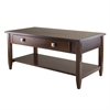 Winsome Wood Richmond Coffee Table Tapered Leg, 40 x 20.53 x 18.11, Antique Walnut