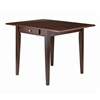 Winsome Wood Hamilton Double Drop Leaf Dining Table, 41.73 x 30.55 x 29.13, Antique Walnut