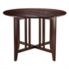 "Winsome Wood Alamo Double Drop Leaf Round 42"" Table Mission, 41.97 x 41.97 x 29.65, Antique Walnut"
