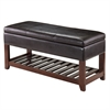 Winsome Wood Monza Bench With Storage Chest, 42.52 x 15.75 x 20.47, Espresso / Walnut