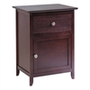 Winsome Wood Eugene Accent Table Walnut, 18.9 x 14.96 x 25, Antique Walnut