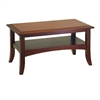 Winsome Wood Craftsman Coffee Table, 33.9 x 18.9 x 18.1, Antique Walnut