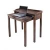 Winsome Wood Kendall Computer Desk, 35.4 x 15.7 x 32.9, Antique Walnut