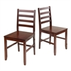Winsome Wood Hamilton 2-Pc Ladder Back Chair, 16.54 x 18.63 x 34.65, Antique Walnut