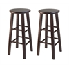 "Winsome Wood Pacey 2-Pc 29"" Bar Stool Set Antique Walnut, 13.6 x 13.6 x 29.1, Antique Walnut"