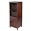 Winsome Wood 3Pc Brooke Jelly Cupboard With 2 Baskets, 17.32 x 15.75 x 47.44, Antique Walnut