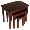 Winsome Wood Bradley 3-Pc Nesting Table Set, 26.77 x 18.7 x 21.85, Antique Walnut