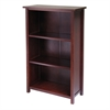 Winsome Wood Milan Storage Shelf Or Bookcase 4-Tier- Medium, 28 x 13 x 43, Antique Walnut