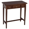 Winsome Wood Regalia Hall Table, 28.74 x 14.25 x 28.74, Antique Walnut