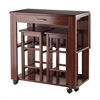 Winsome Wood Fremont 3-Pc Space Saver Set, 30.63 x 31.57 x 31.73, Walnut