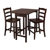 Winsome Wood Lynnwood 3-Pc Drop Leaf High Table With 2 Counter Ladder Back Stool/Chair