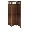 Winsome Wood William Folding Screen, 52.4 x 0.79 x 70, Antique Walnut