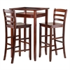 Winsome Wood Halo 3Pc Pub Table Set With 2 Ladder Back Stools