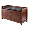 Winsome Wood Charleston 2-Pc Storage Hall Bench Set, 39.76 x 15.35 x 21.65, Walnut / Espresso