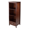 Winsome Wood Brooke Jelly Cupboard With 3 Shelves And Drawer, 17.32 x 15.75 x 47.44, Antique Walnut