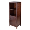 Winsome Wood Brooke Jelly Cupboard With 2 Shelves And Door, 17.32 x 15.75 x 47.44, Antique Walnut