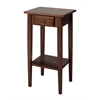 Winsome Wood Regalia Accent Table With Drawer, Shelf, 17 x 14 x 29.5, Antique Walnut