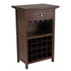 Winsome Wood Chablis Wine Cabinet, 26.6 x 15.7 x 40.4, Antique Walnut
