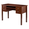 Winsome Wood Emmett Writing Desk With Pull Out Keyboard And Two Drawers Plus A File Drawer, 47 x 20.94 x 31.5, Walnut