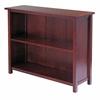 Winsome Wood Milan Storage Shelf Or Bookcase, 3-Tier, Long, 39 x 13 x 30, Antique Walnut