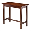 Winsome Wood Sally Breakfast Table, 39.37 x 19.69 x 33.27, Antique Walnut