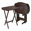 Winsome Wood Corbett 5-Pc Oversize Oblong Tv Table, 23.62 x 15.75 x 25.43, Antique Walnut