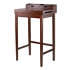 Winsome Wood Brighton High Desk With 2 Drawers, 27.95 x 19.92 x 45.91, Antique Walnut