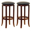 "Winsome Wood Walcott 2-Pc 30"" Swivel Seat Counter Stool Set, 16.97 x 16.97 x 30.24, Antique Walnut"