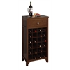 Winsome Wood Sonoma Modular Wine Cabinet, 19.09 x 12.6 x 37.52, Antique Walnut