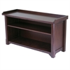 Winsome Wood Milan Bench With Storage Shelf, 40 x 14.17 x 22.05, Antique Walnut