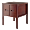 Winsome Wood Bora End Accent Table, 20 x 20 x 24.02, Walnut