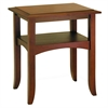 Winsome Wood Craftsman End Table With Shelf, 22.4 x 17.3 x 25.9, Antique Walnut