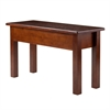 Winsome Wood Emmett Bench With Seat Storage, 29.92 x 12 x 17.44, Walnut