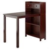 Winsome Wood Tyler Table W/ Storage Shelf, 40 x 24.02 x 41.97, Walnut