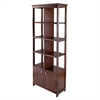 Winsome Wood Oscar Display Shelf, 26.14 x 12.24 x 68.11, Antique Walnut